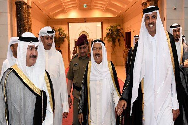 پیغام امیر کویت خطاب به امیر قطر درباره بحران خلیج فارس
