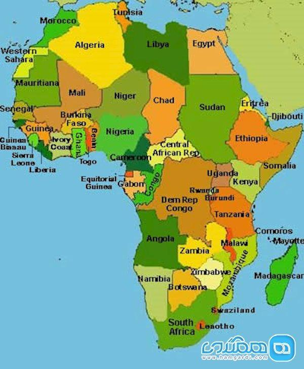 با مرزهای عجیب قاره آفریقا آشنا شویم