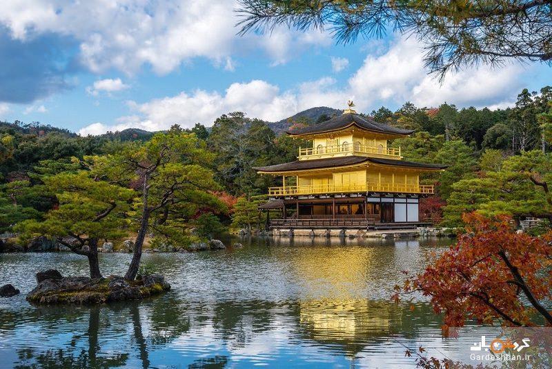 معبد طلایی کیوتو از جاذبه های مهم گردشگری ژاپن، عکس