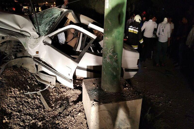 خبرنگاران سانحه رانندگی در جهت تهران - پرندک جان 6 نفر را گرفت