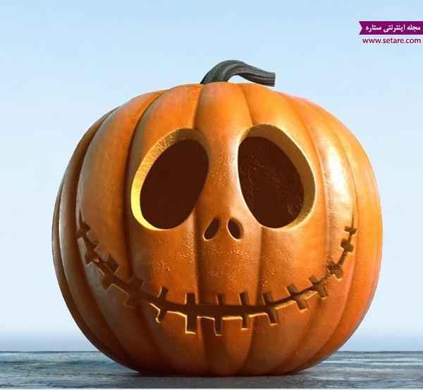 عکس تزیین کدو حلوایی برای جشن هالووین و یلدا