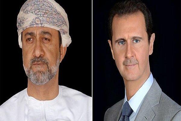پیغام پادشاه عمان به بشار اسد بمناسبت سالروز استقلال سوریه