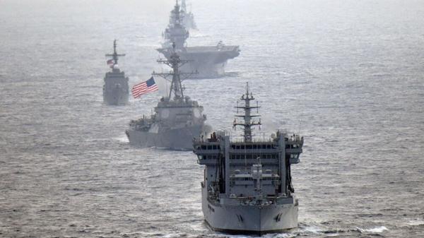 رزمایش مشترک ژاپن و آمریکا در دریای جنوبی چین