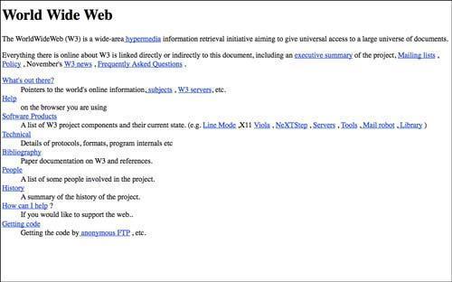نخستین وب سایت چه شکلی بوده است؟